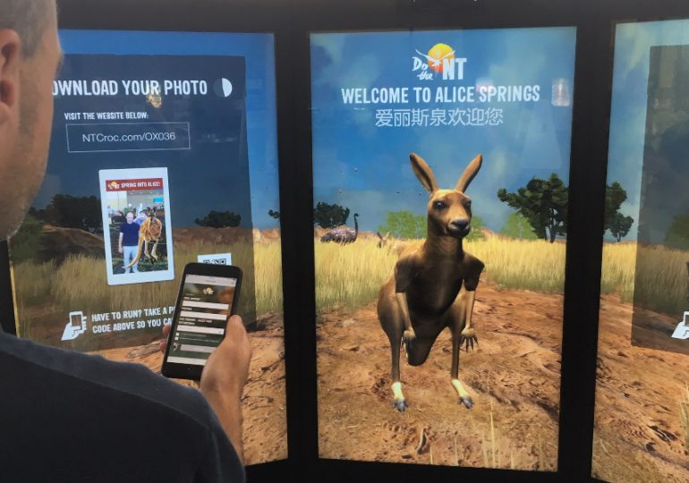 Jumping Roo to welcome you at Alice Springs Airport