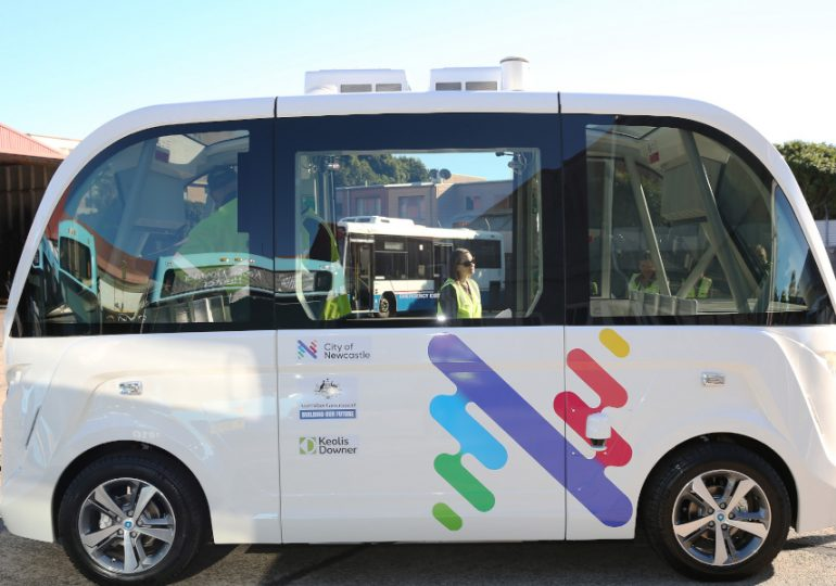 Newcastle wheels out first driverless vehicle