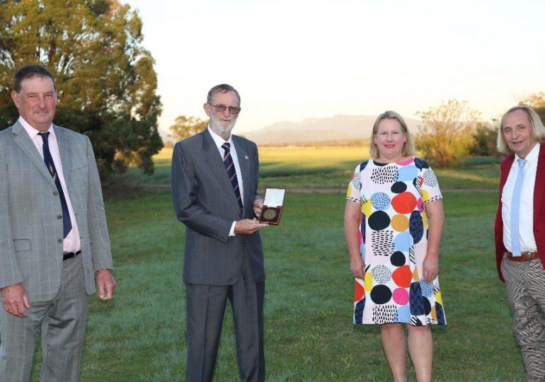 Prominent wheat breeder presented Farrer Memorial Medal