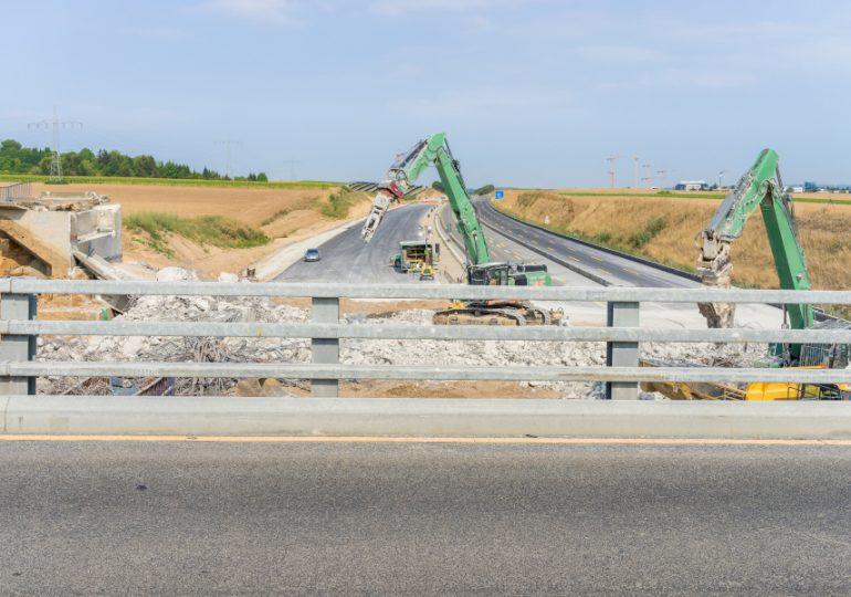 Construction underway at Rocky Creek Bridge